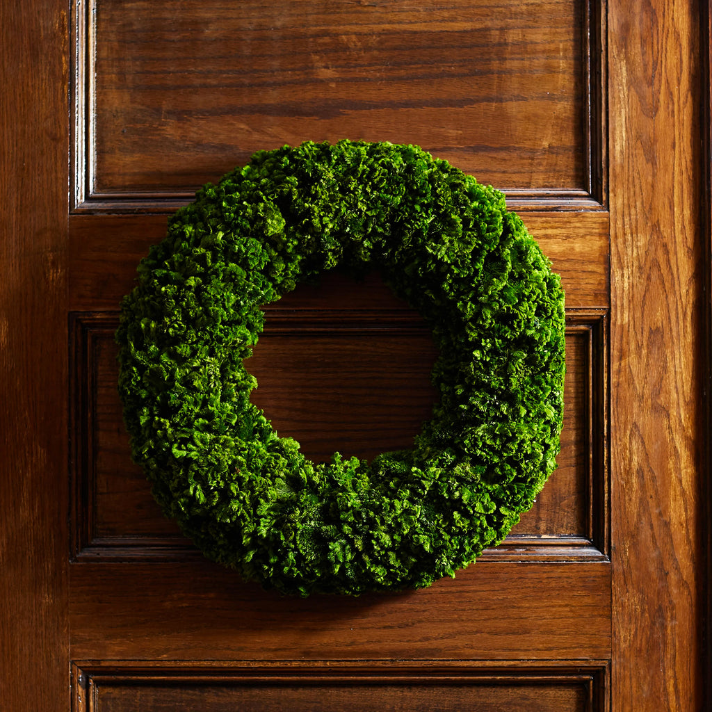 Preserved Natural Celosia Moss Spring Summer Wreath 21""