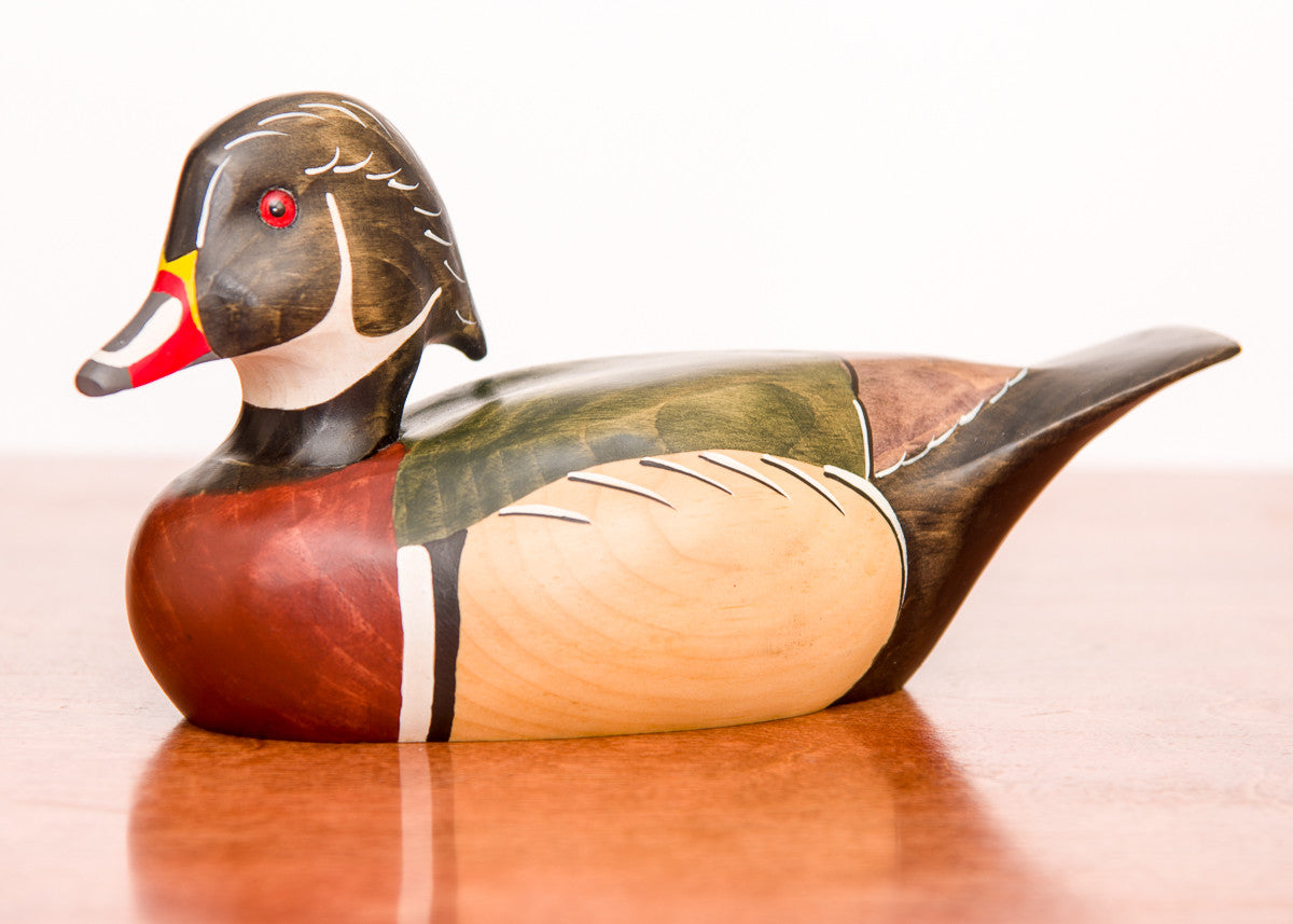Hand Carved Wood Duck Drake 3 4 Size Decoy Darby Creek Trading