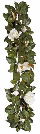 Real Touch White Magnolia Flower & Leaf All Seasons Garland Table Runner