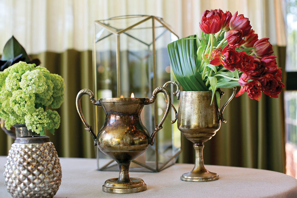 Antique Inspired Bronzed Metal Champion Chalice Urn- 2 Sizes Available