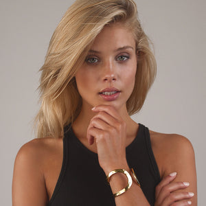 ELISE MINIMALIST SPLIT CUFF - Karine Sultan Official Website