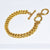 Dimensional Double Curb Link Bracelet - Karine Sultan Jewelry