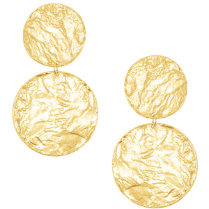 Aimee Statement Earrings in Gold