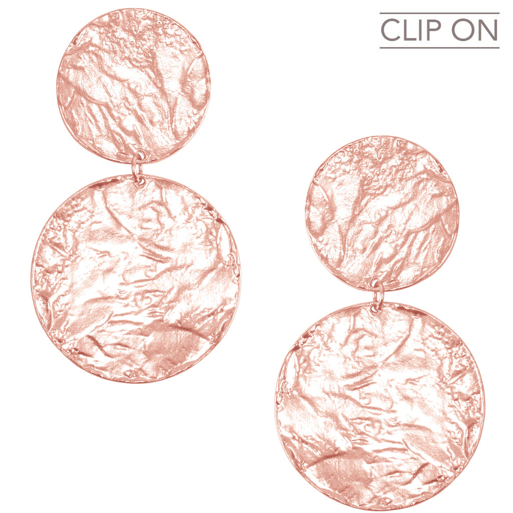 AIMEE STATEMENT CLIP ON IN ROSE GOLD