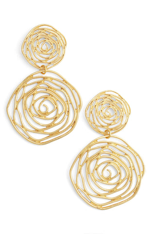 JULIE OVERSIZED EARRING IN GOLD