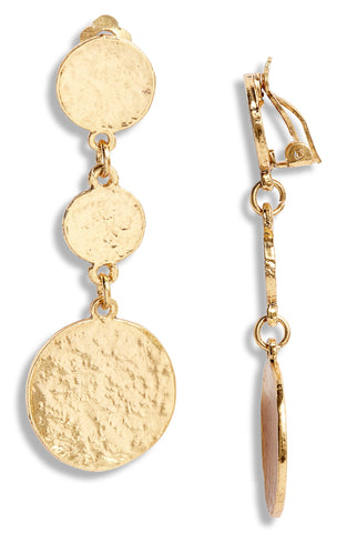LOUISE COIN DANGLE CLIP ON IN GOLD
