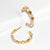 Pearl & Geometric Bead ¾ Hoops - Karine Sultan Jewelry