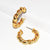 Twisted Braid Hoop Earrings - Karine Sultan Jewelry