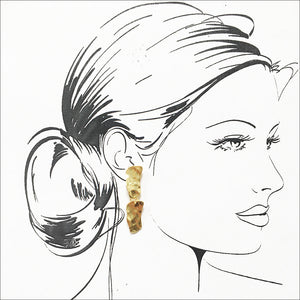 ALICE COBBLESTONE DROP EARRING - Karine Sultan Official Website