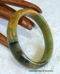 """Colors of Earth"" Chinese Jade Bangle Bracelets"
