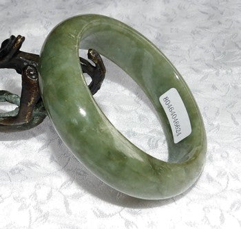 """Good Green"" Gorgeous Small Jadeite Bangle Bracelet 50mm + Certificate (624)"