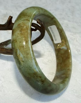 """Yang"" High Energy Deep Green Jadeite Bangle Grade A + Certificate 58.5mm (639)"