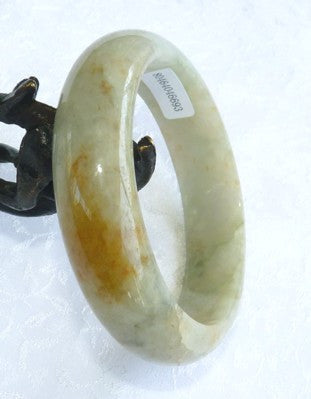 "Clearance-""Hong"" Red Veins Burmese Jadeite Jade Bangle Bracelet Grade A 56.5mm + Certificate (693)"