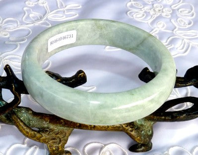 """Peaceful Spirit"" Soft Yin Jadeite Jade Bangle Bracelet 59mm + Certificate (731)"