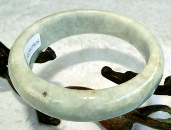 """Peppery"" Veins Grade A Jadeite Bangle Bracelet 59mm + Certificate (789)"