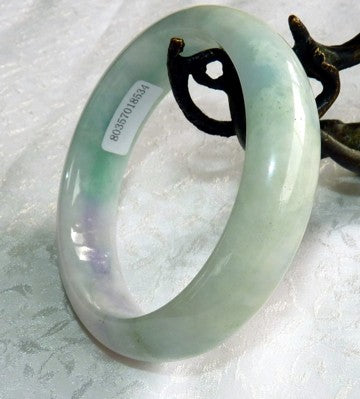 Green and Lavender Burmese Jadeite Jade Bangle Bracelet 58mm* + Certificate (8534)