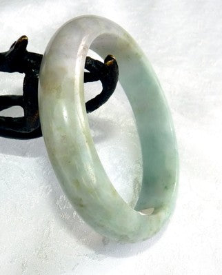 """Hidden Treasures"" Burmese Jadeite Grade A Bangle Bracelet 55mm + Certificate (8541)"