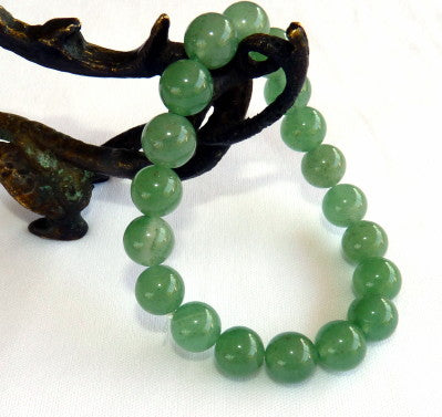 Sale-Classic Green Jade Bead Stretch Bracelet