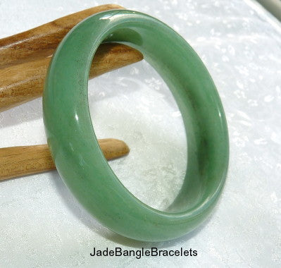 Translucent Green Nephrite WIDE  Jade Bangle Bracelet 61 mm  (JBB-3276)