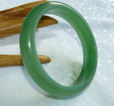 Good Green Chinese Nephrite Jade Bangle Bracelet 60mm (H-50)