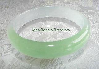 "Clearance-""Ice"" and Green Jadeite Bangle 57mm (JBB1001)"