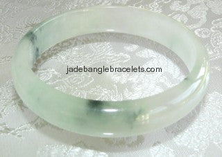 Clearance-High Polish Translucent Burmese Jadeite Bangle 61mm (JBB2007)