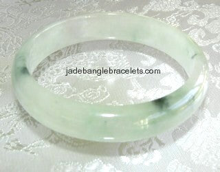 "Clearance- Silky Smooth ""Moss"" Jadeite Bangle 58mm (JBB2008)"