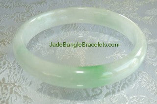 "Clearance-""Yin"" Soft and Gentle Jadeite Bangle 56mm  (JBB2163)"