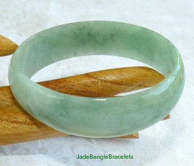 "Small Rare Oval ""Cuff"" Burmese Jadeite Bangle fits like 50mm 51mm 52mm (JBB2805)"