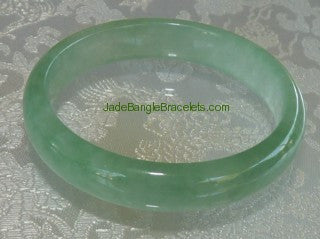 Translucent Fei Cui Green Jadeite Jade Bangle 54.5mm