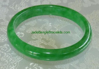Clearance-Translucent Green Jadeite jade Bangle Bracelet 59mm (JBB2862)