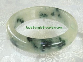 "Clearance-""Overcoming Adversity""  Jadeite Bangle 58.5mm (JBB2863)"