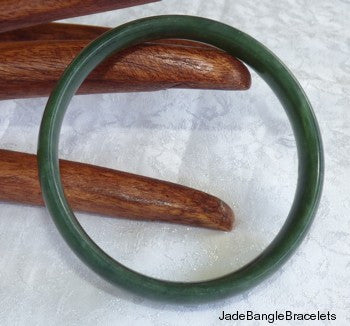 """Luminous Jade"" Chinese Bangle Bracelet 56.5mm (JBB3099)"