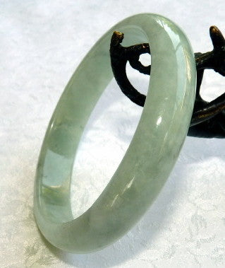 Good Green Genuine Burmese Jadeite Bangle Bracelet 58.5mm (JBB3255)