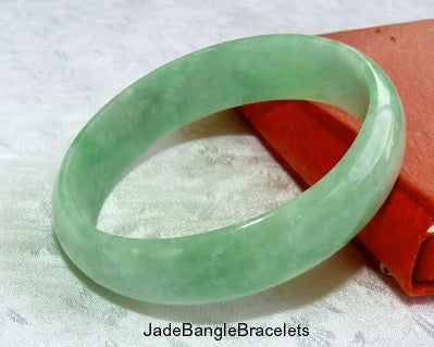 Rare Small Oval Burmese Jadeite Bangle Bracelet Fits Like 50-52mm (JBB3321)