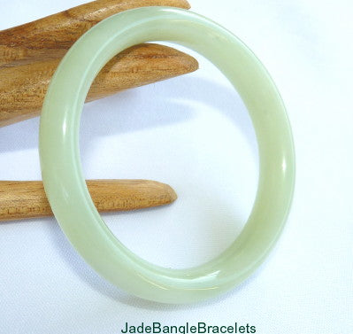 Classic Traditional Round Chinese Jade Bangle Bracelet 53.5mm (JBB-3361)