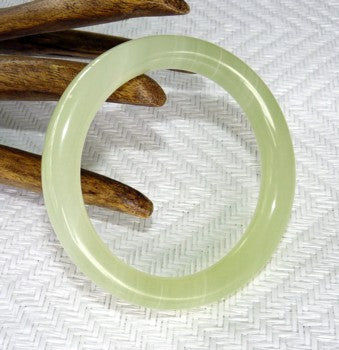 Chinese Jade Classic Round Bangle Bracelet 61mm (NJR-SP-61)