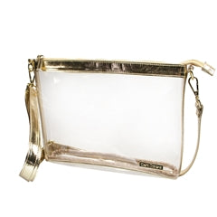 Clear Crossbody Stadium/Concert Bag - Large Tan - SALE