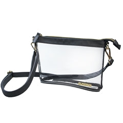 Clear Crossbody Stadium/Concert Bag - Small Black - SALE