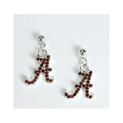 Earrings - Crystal Script A