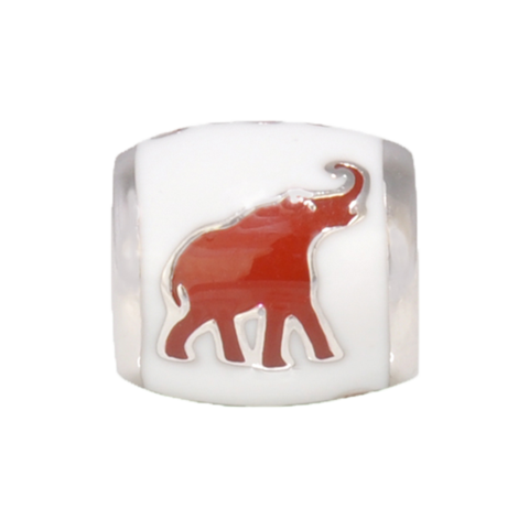 Red Elephant Bead