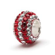 Bead - Crimson and Clear stones