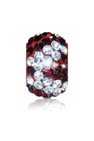 Bead - Crimson & Crystal Zebra - SALE