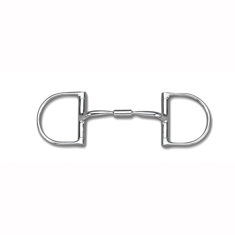 Myler Dee without Hooks with Stainless Steel Comfort Snaffle Wide Barrel MB 02