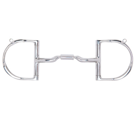 Myler Dee with Hooks with Stainless Steel Low Port Comfort Snaffle MB 04