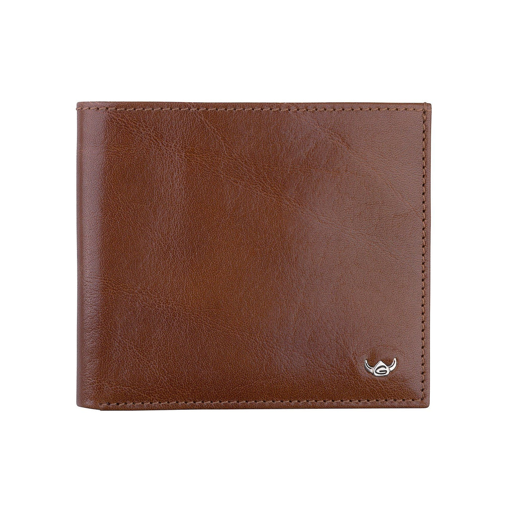 Golden Head Colorado Billfold Leather Wallet with 10 CC Slots, Tobacco Leather Wallet Golden Head
