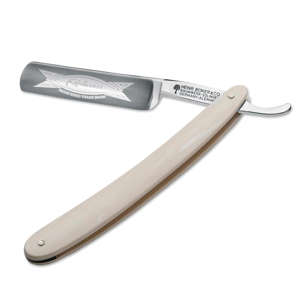 "Boker Edelweiss Hollow Ground Straight Razor 5/8"" in Ivory Straight Razor Boker"