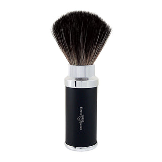 Edwin Jagger Travel Shaving Brush, Black Synthetic Fibre Synthetic Bristles Shaving Brush Edwin Jagger