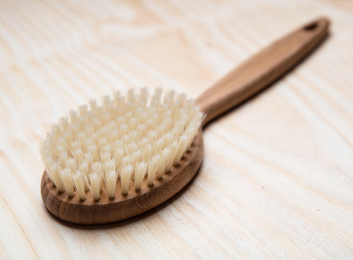 Faller Bamboo Bath Brush with Natural Boar Bristles - Made in Germany