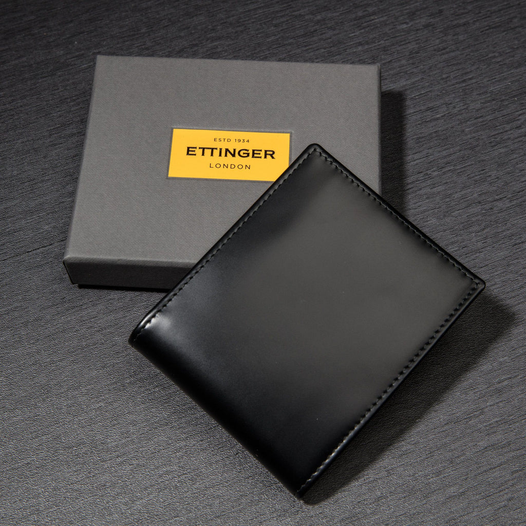 Ettinger Bridle Hide Billfold Leather Wallet with 6 CC Slots Leather Wallet Ettinger